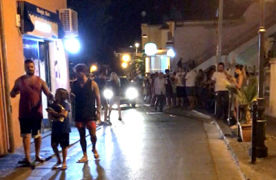 REFILE - ADDITIONAL CAPTION INFORMATION  People walk on a street after an earthquake hit the island of Ischia, off the coast of Naples, Italy August 21, 2017 in this still image taken from video. MANDATORY CREDIT @totoriellos/Handout via Reuters  ATTENTION EDITORS - THIS IMAGE HAS BEEN SUPPLIED BY A THIRD PARTY. MANDATORY CREDIT. NO RESALES. NO ARCHIVE. MUST ON SCREEN COURTESY @totoriellos THIS PICTURE WAS PROCESSED BY REUTERS TO ENHANCE QUALITY. AN UNPROCESSED VERSION HAS BEEN PROVIDED SEPARATELY